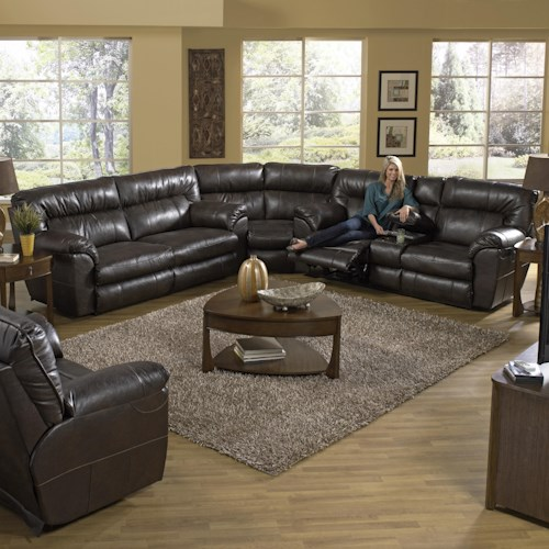 Catner Nolan Reclining Sectional Sofa With Right Console