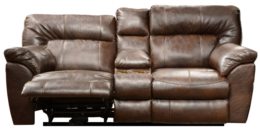 Catnapper Nolan Power Extra Wide Reclining Console Loveseat With