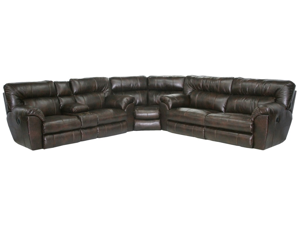 Catnapper Nolan Power Reclining Sectional with Left Console