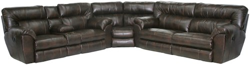Catnapper MAVERICK Power Reclining Sectional Sofa with Left Console