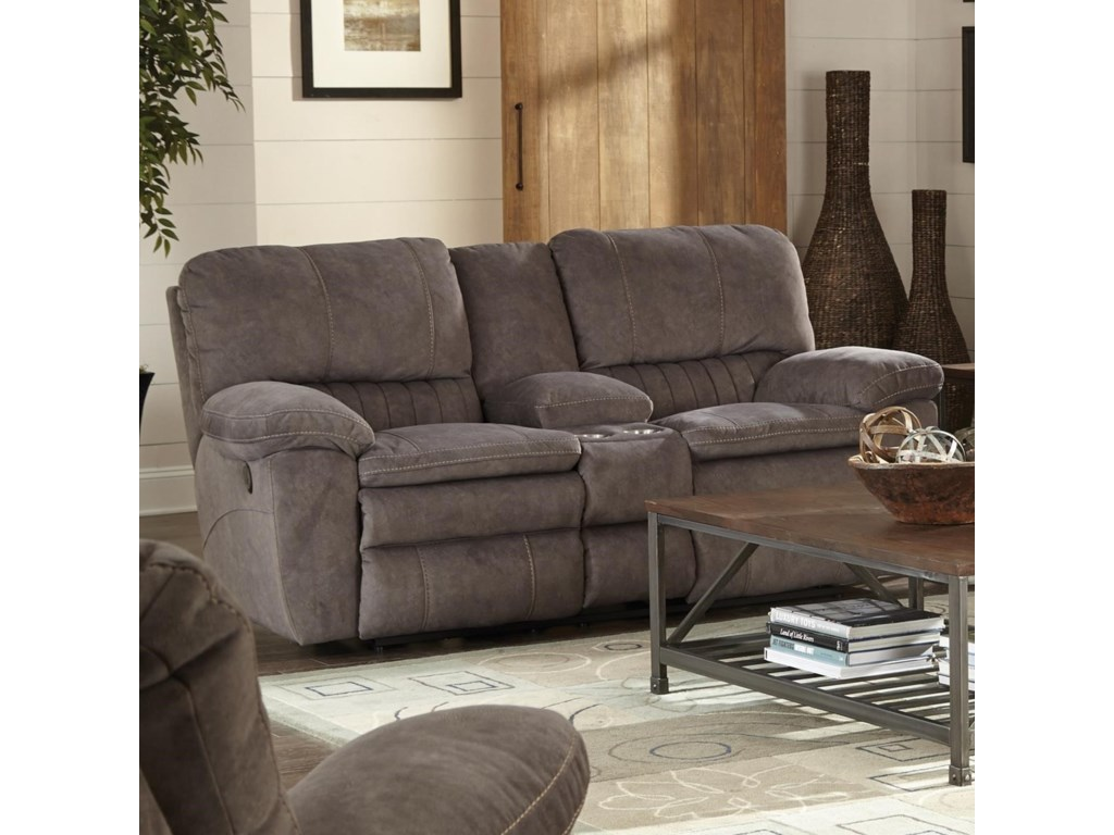graphite catnapper shrm console in loveseat reyes reclining lay flat