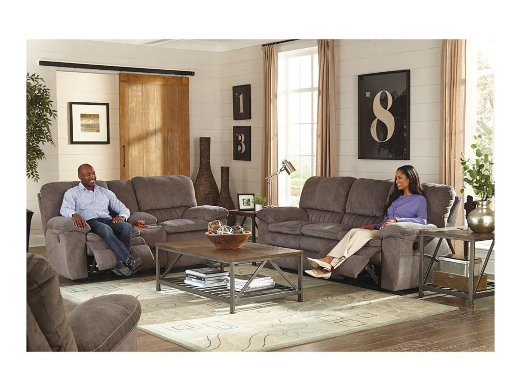 Catnapper ChampionPower Lay Flat Reclining Console Loveseat