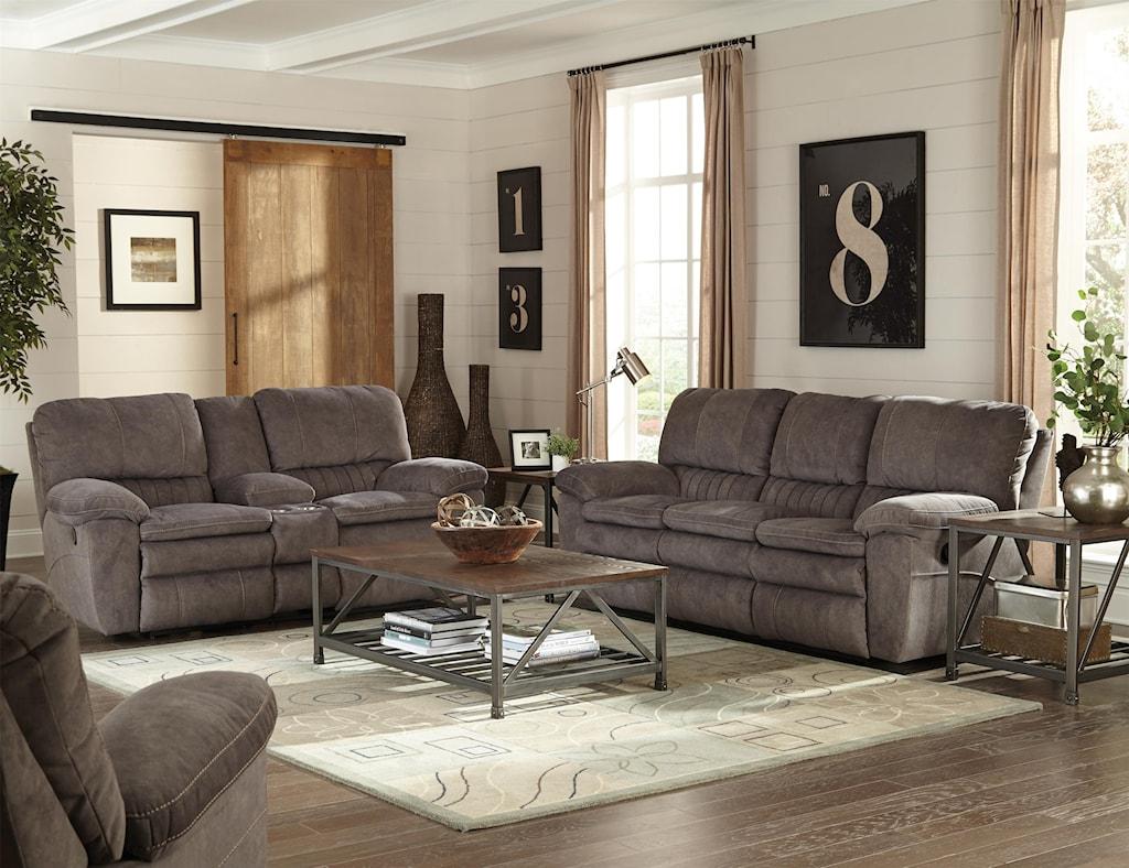 Catnapper Reyes Power Lay Flat Reclining Sofa Virginia Furniture  ~ Lay Flat Reclining Sofa