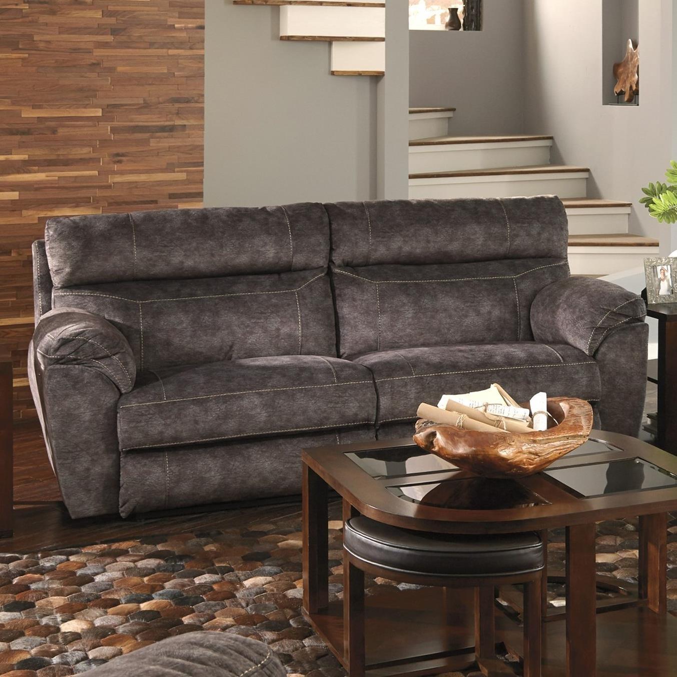Catnapper SedonaPower Headrest Lay Flat Reclining Sofa ...