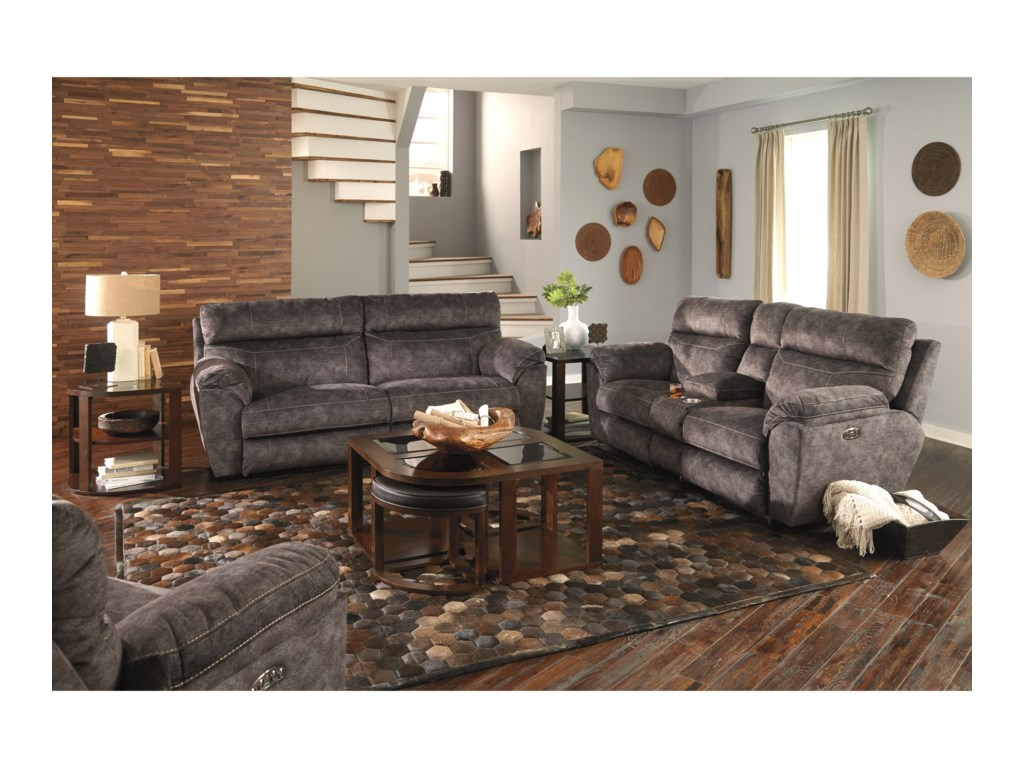 Catnapper MessinaPower Lay Flat Reclining Sofa