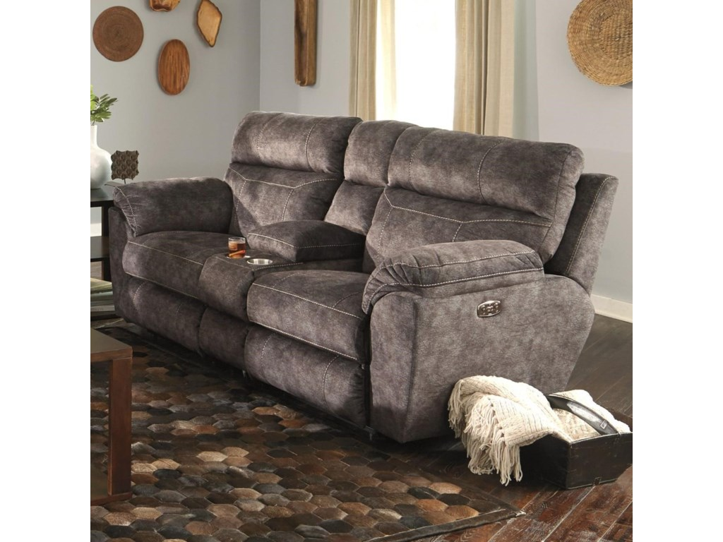 console flat reclining loveseat in lay shrm greystone carrington catnapper