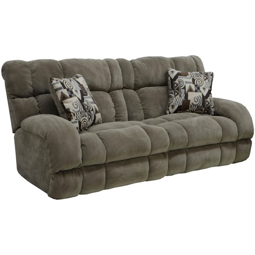 Catnapper Siesta Power Lay Flat Reclining Sofa With Wide Seats