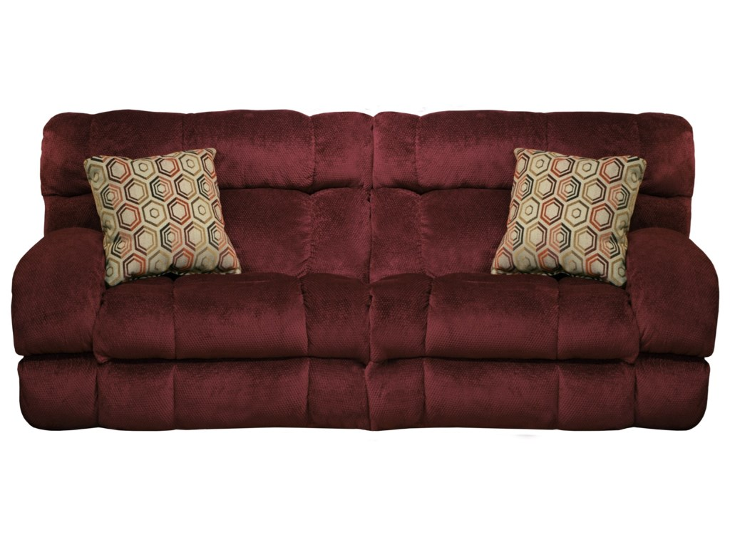 Catnapper Siesta Power Lay Flat Reclining Sofa with Wide Seats ...