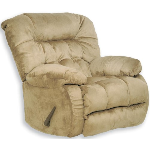 Catnapper Teddy Bear Chaise Rocker Recliner with Pillow Arms