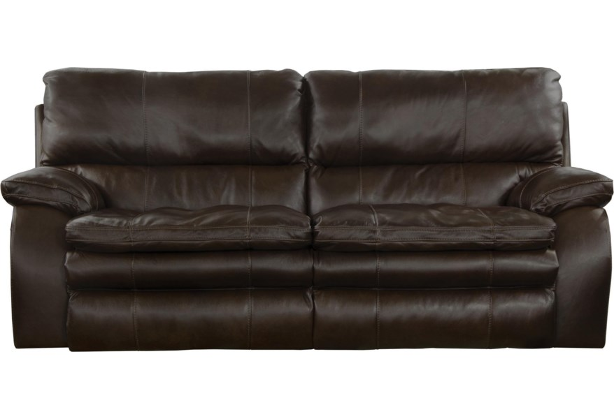 Verona Lay Flat Reclining Sofa with Pillow Arms by Catnapper at Virginia  Furniture Market