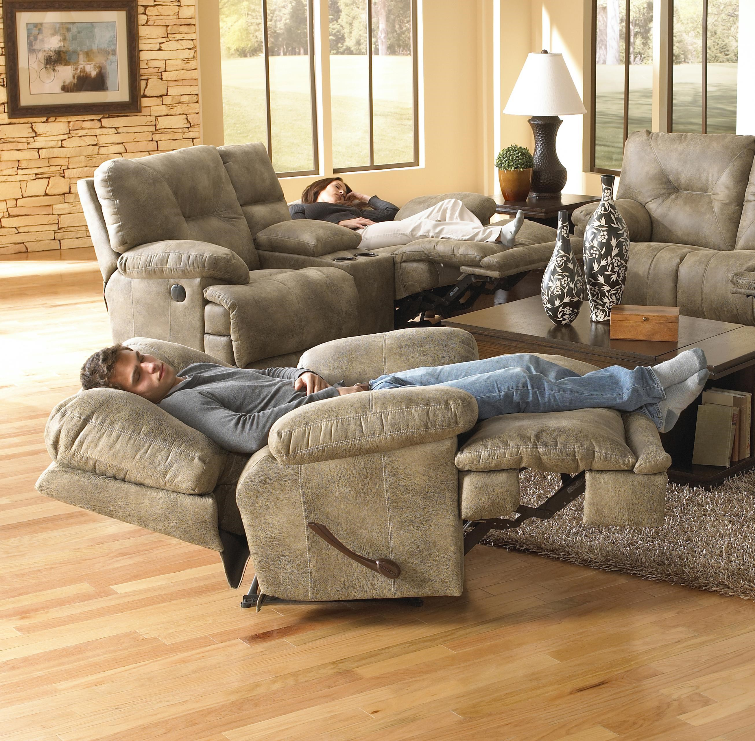 Voyager Single Seat  Lay Flat  Recliner by Catnapper  sc 1 st  Household Furniture & Catnapper Voyager Single Seat