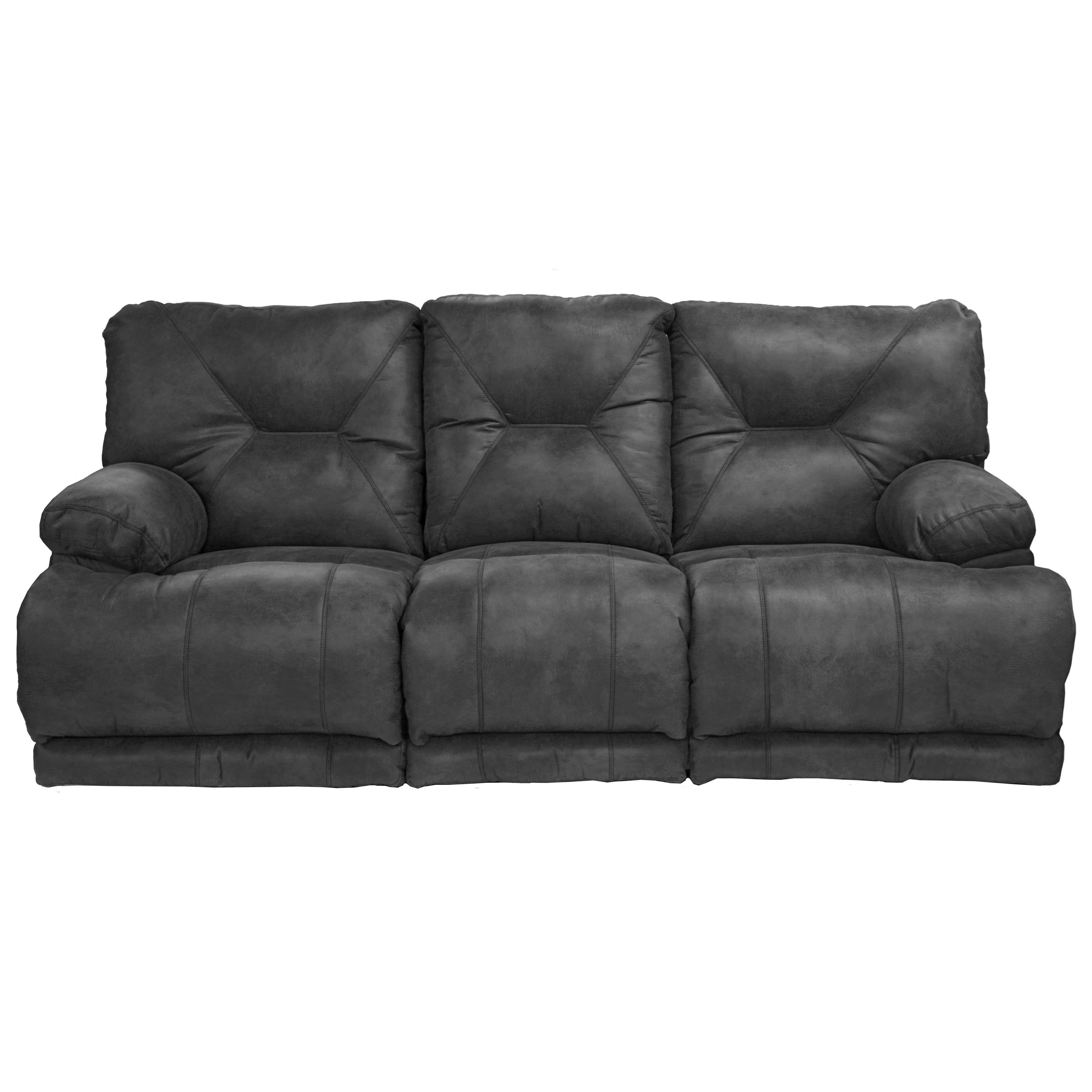 Lay Flat Reclining Sofa with Padded Arms
