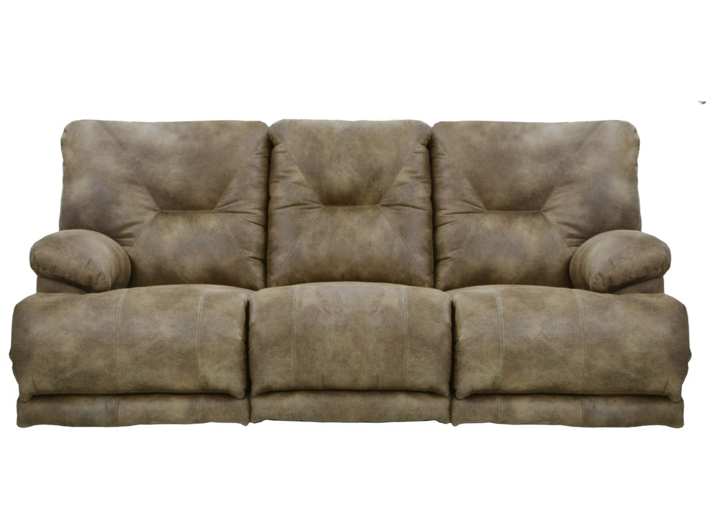 Catnapper Voyager Lay Flat Reclining Sofa with Fold Down MiddleTable ...