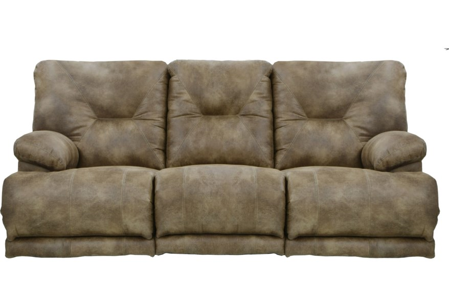 Voyager Power Lay Flat Reclining Sofa with Fold Down MiddleTable by  Catnapper at Standard Furniture