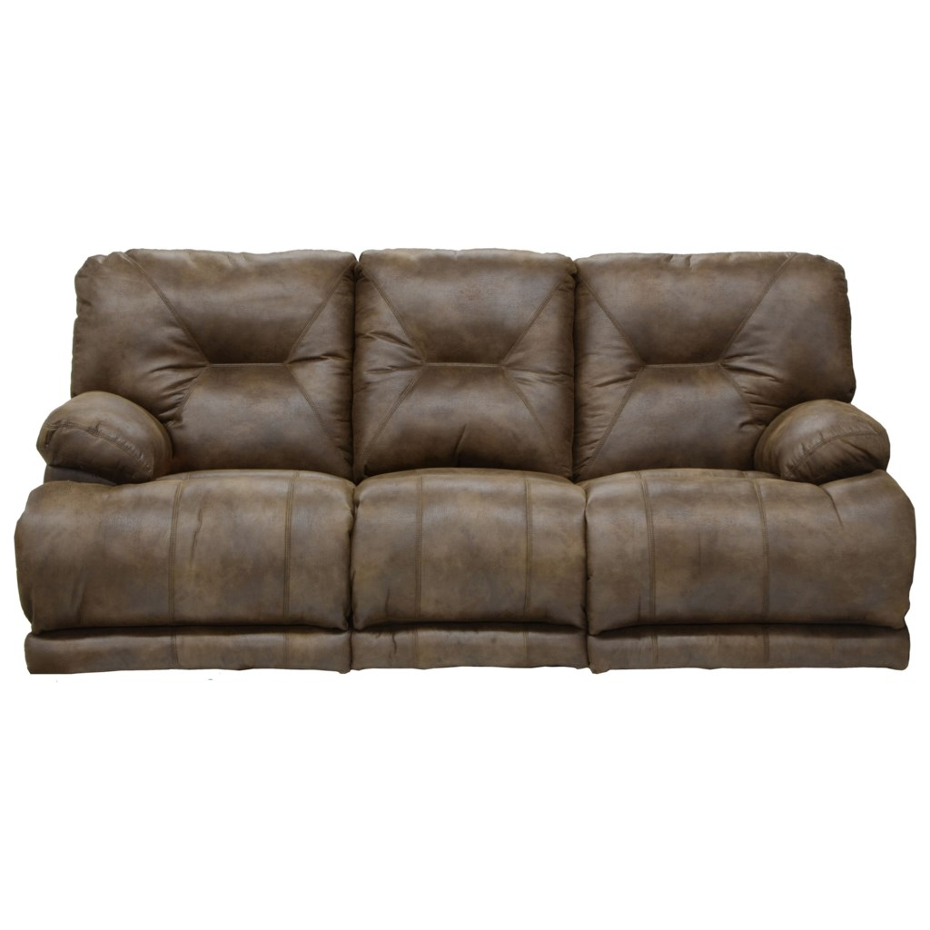 Catnapper Voyager Power 3 Seat Lay Flat Reclining Sofa With Fold  ~ Lay Flat Reclining Sofa