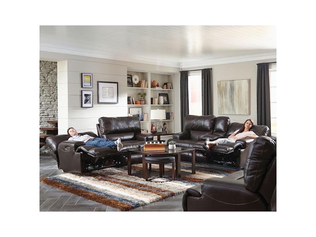 Catnapper WembleyPower Lay Flat Reclining Sofa