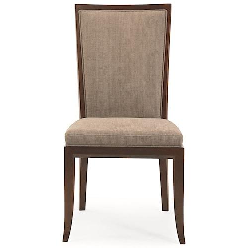 Century 3377 Luna Park Side Chair with Diamond Lattice Back