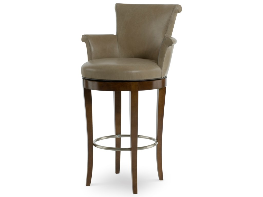 Century 3800B-3Scroll Swivel Bar Stool