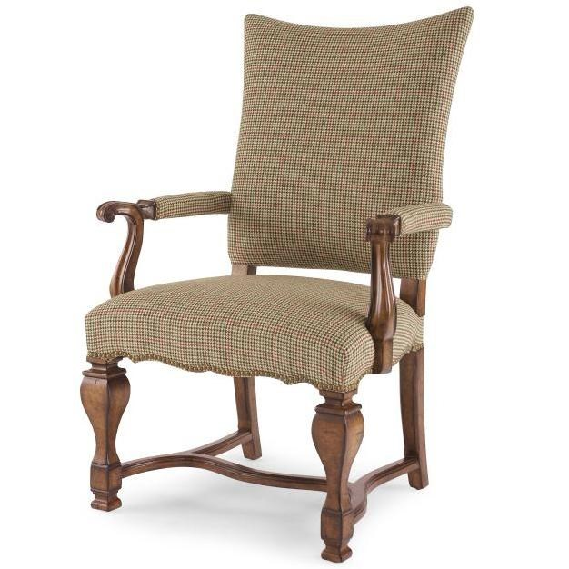 Buck's Upholstered Dining Arm Chair