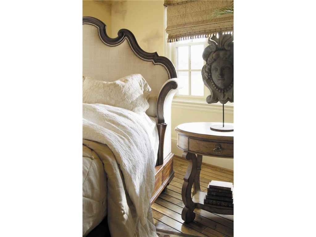 Century CaperanaKing Upholstered Bed