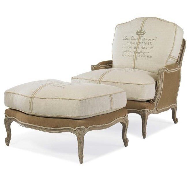 Century Century ChairGrand Bergere Chair and Ottoman