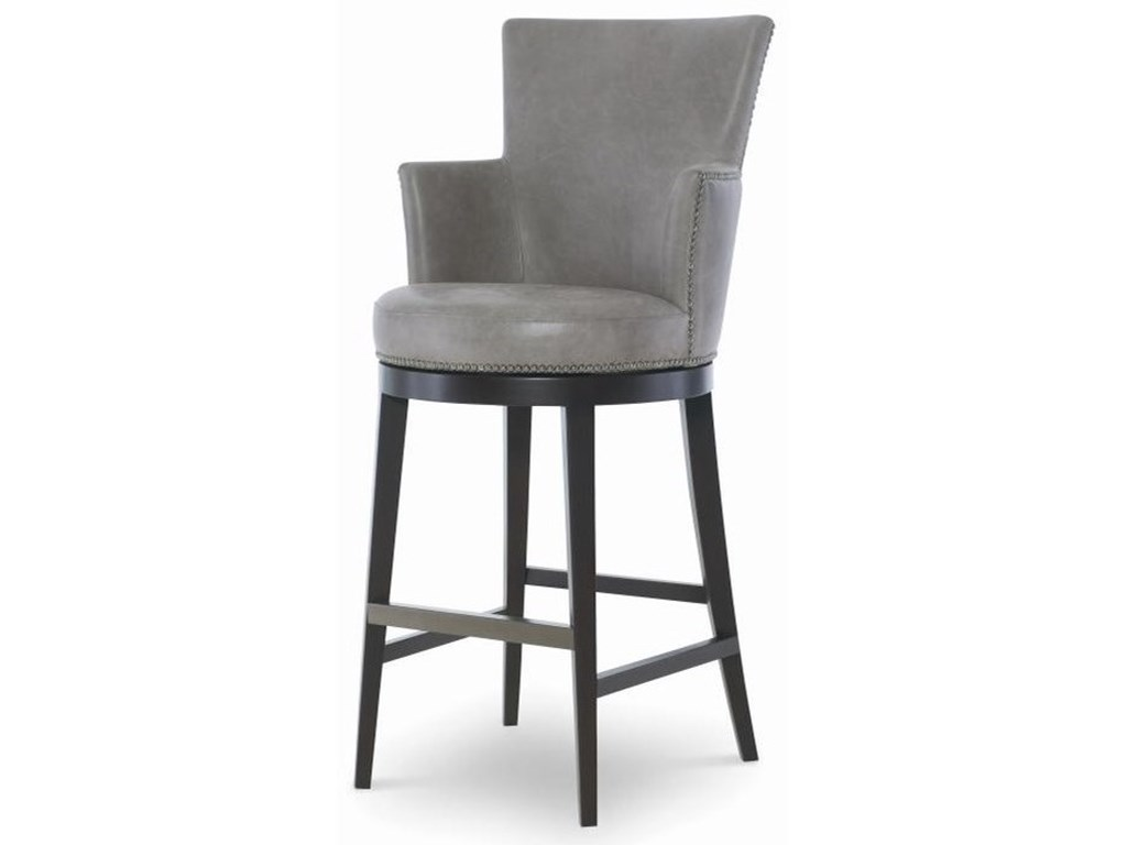Century Trading Companyleather Swivel Bar Stool
