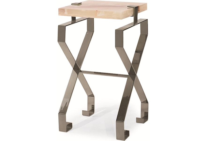 Century Chin Hua Metal Twist Flex Base Martini Table With Jade Green Onyx Top Sprintz Furniture End Tables