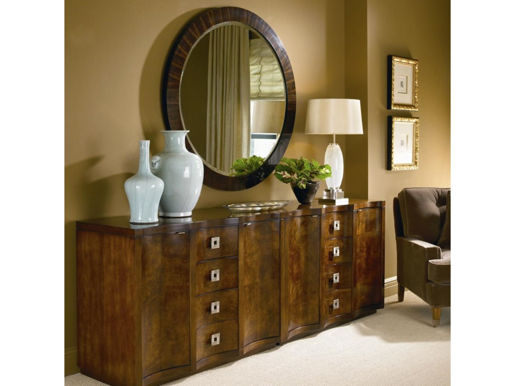 Century OmniPair of Chests and Ebonized Mirror