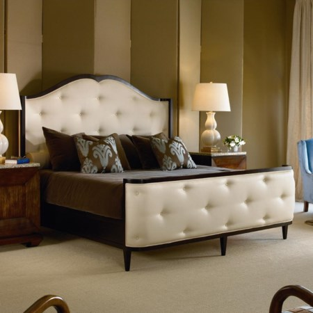 Bed with Upholstered Headboard and Footboard