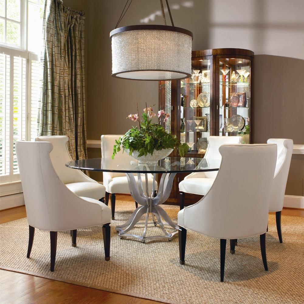 Century OmniMetal Dining Table and Upholstered Chair