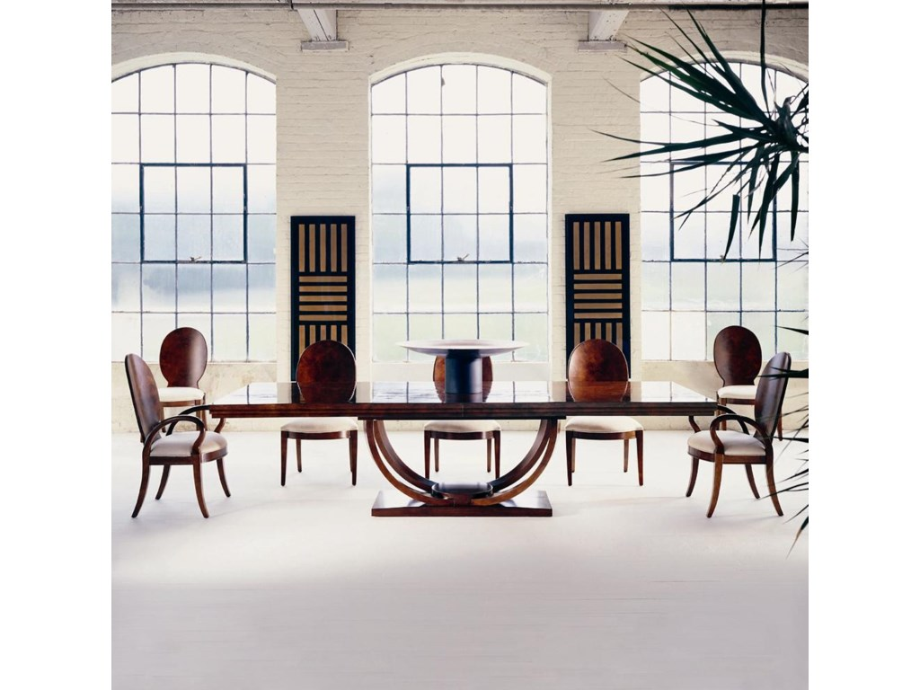 Shown as Set with Dining Table and Two Arm Chairs.