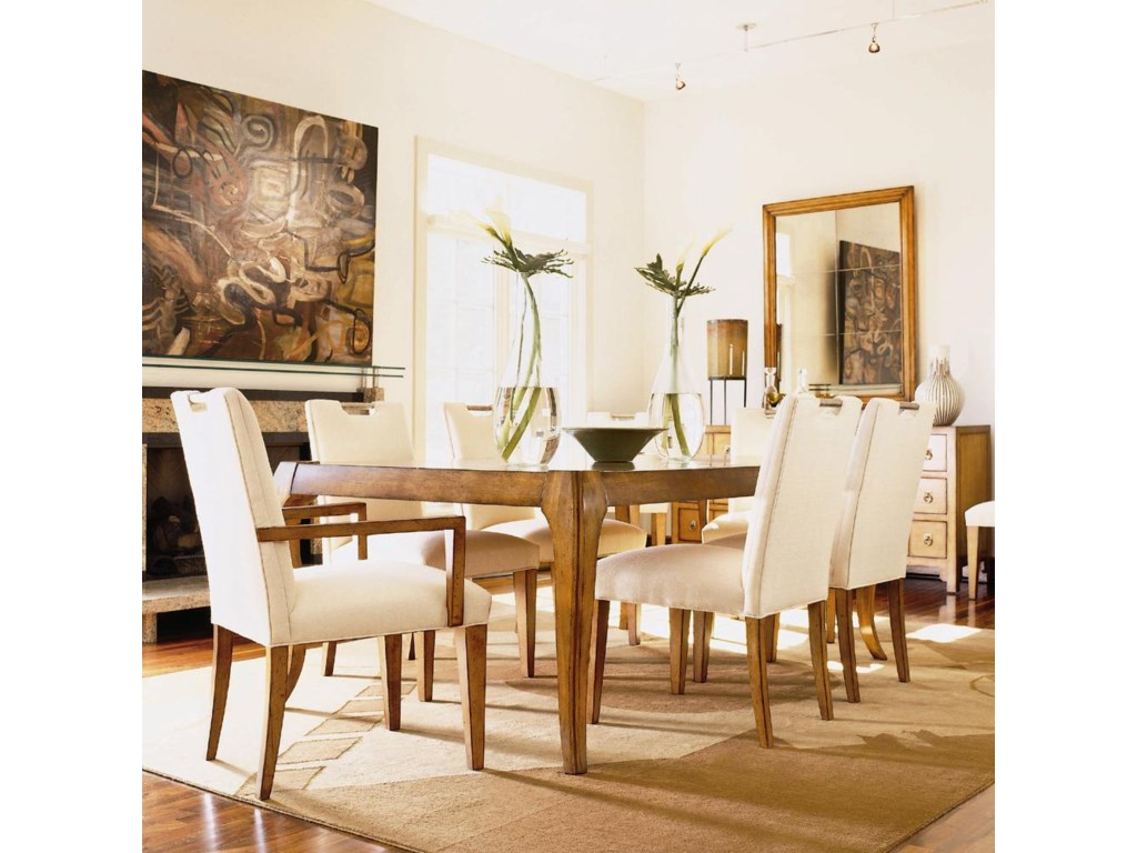 Shown as Set with Extension Dining Table and Two Dining Arm Chairs.