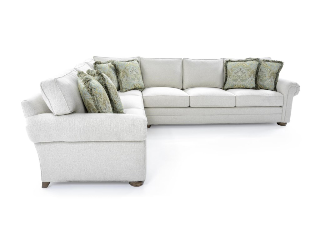 Century Cornerstone Customizable Sectional Sofa with Lawson Arms