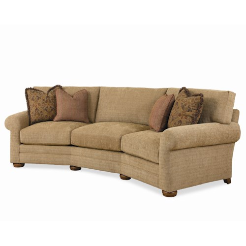 Different Types Of Sofa Settee Sock Arm: Century Cornerstone Customizable Conversation Sofa With Sock Arms And Bun Feet