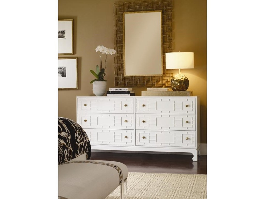 Century Details Case - BedroomCustomizable Six Drawer Chest