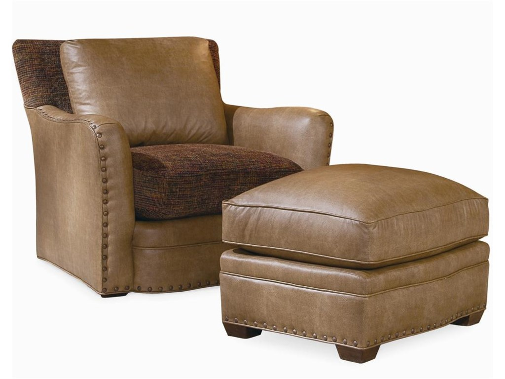 Century EleganceUpholstered Chair & Ottoman