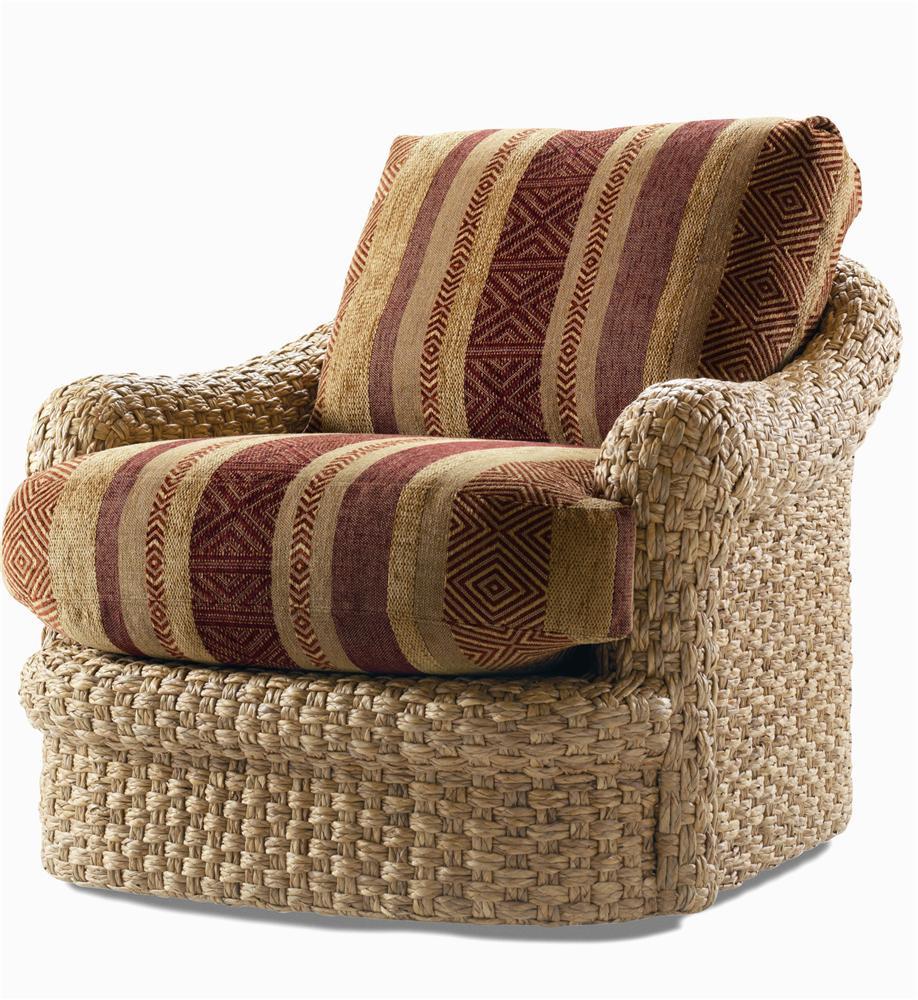 Century Elegance Water Hyacinth Swivel Chair
