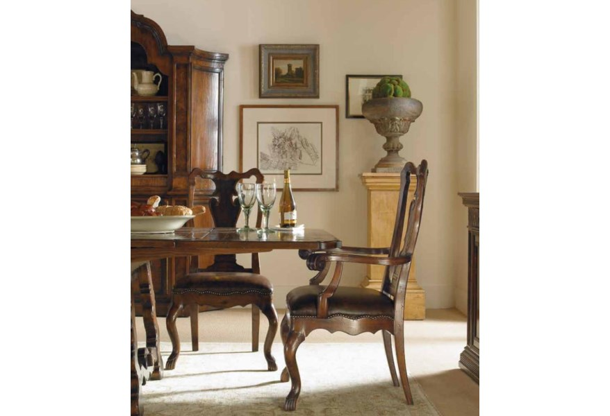 Century Marbella 661 661 511 Calderon Side Chair With Nail Head Trim Baer S Furniture Dining Side Chairs