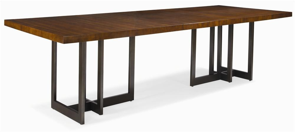 Century MilanSatin Walnut Dining Table