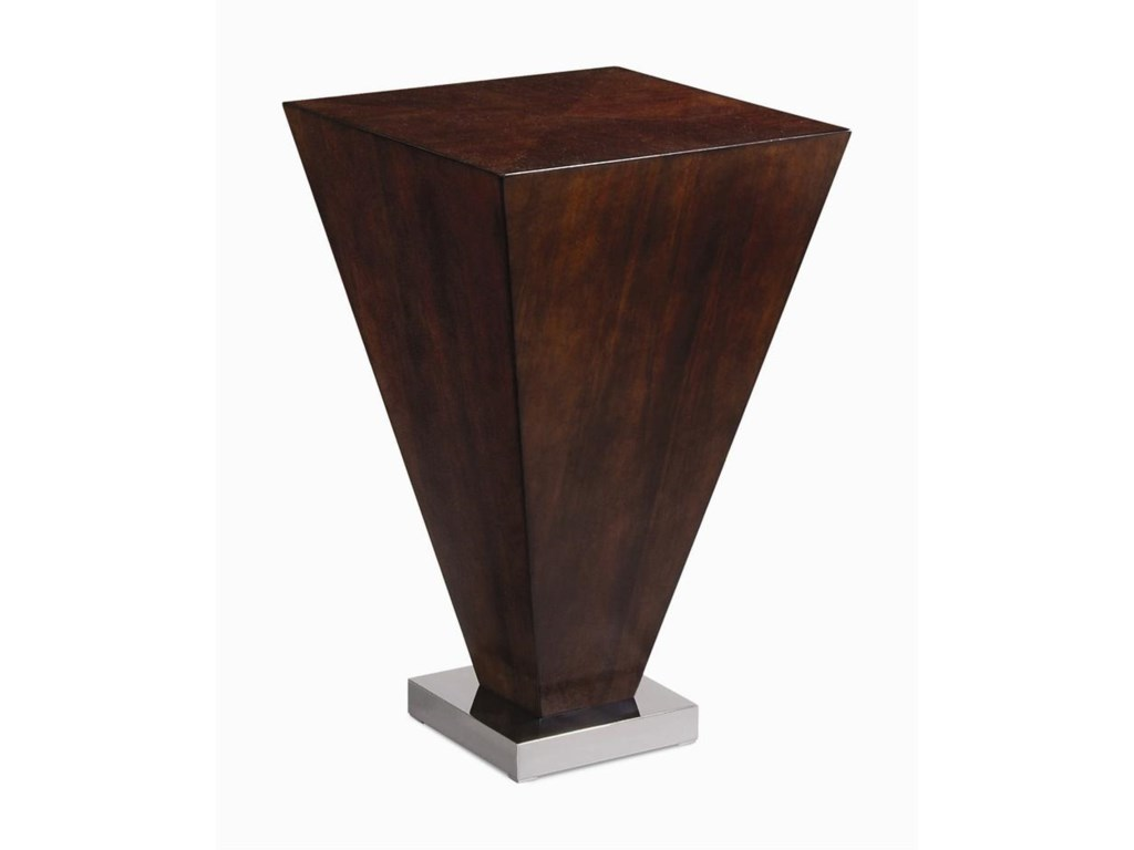Century MilanChairside Table with Metal Base