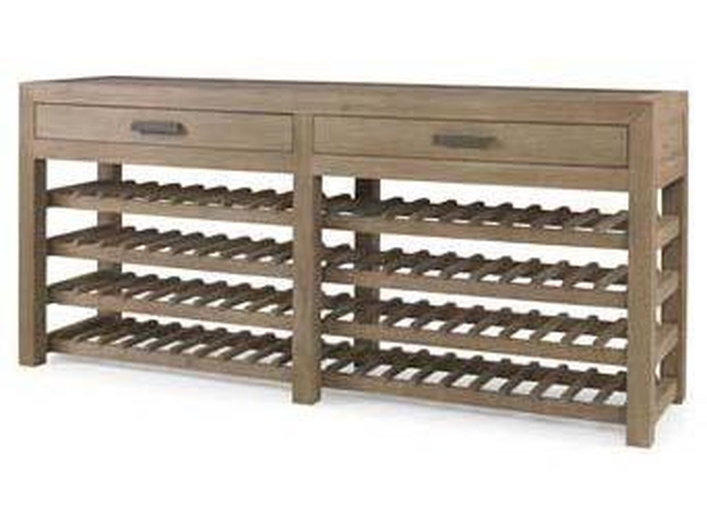 Century Monarch Fine Furniture 2 Drawer Solid Oak Wine Storage Console