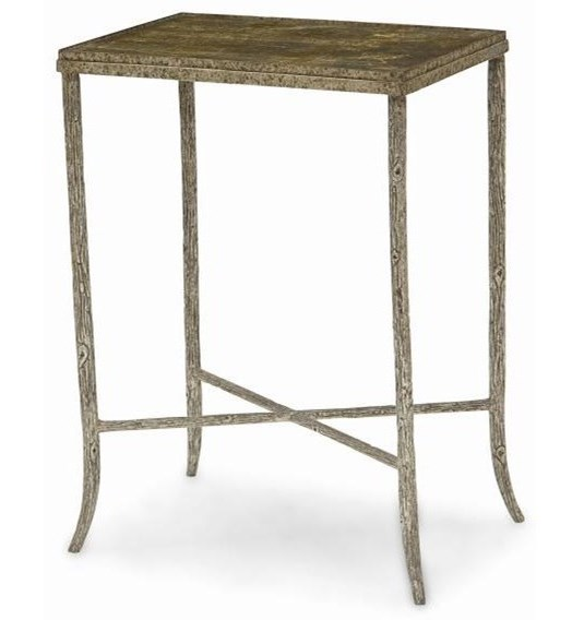 Century New TraditionalMetal Chairside Table