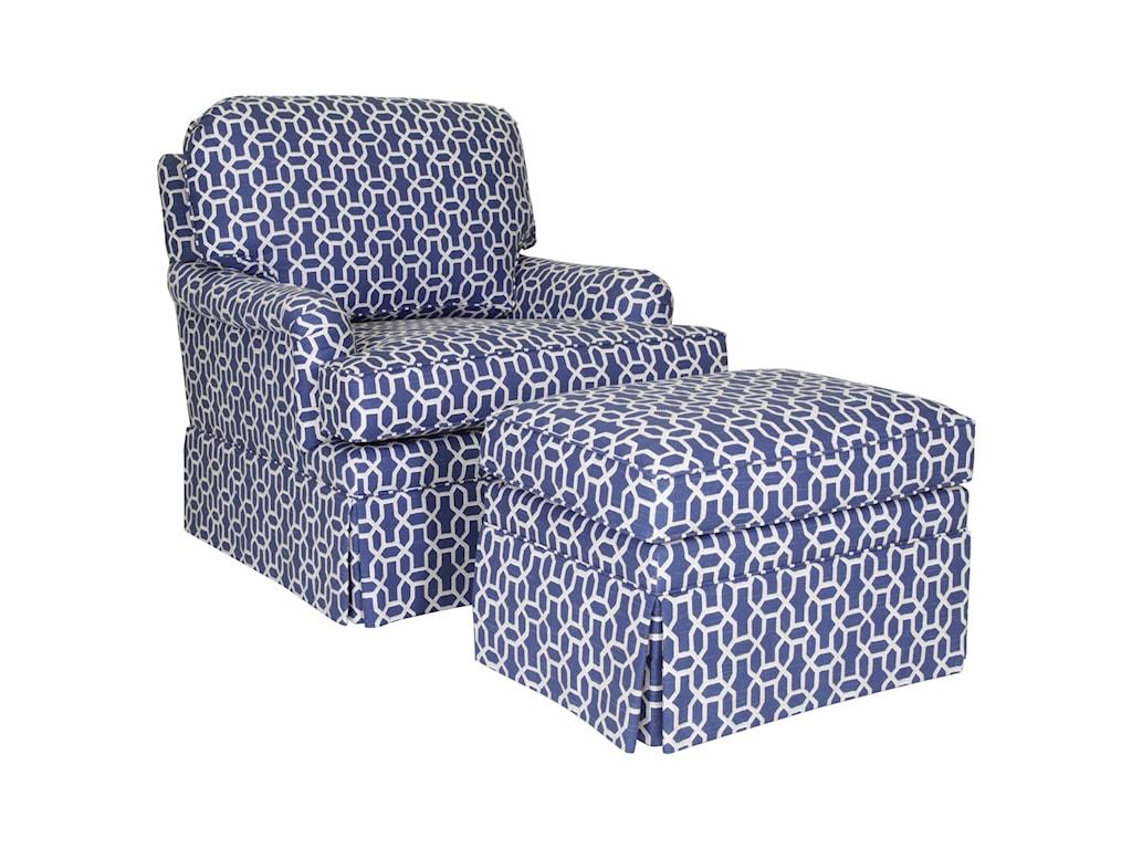 Century Studio Essentials UpholsteryDover Chair & Ottoman Set