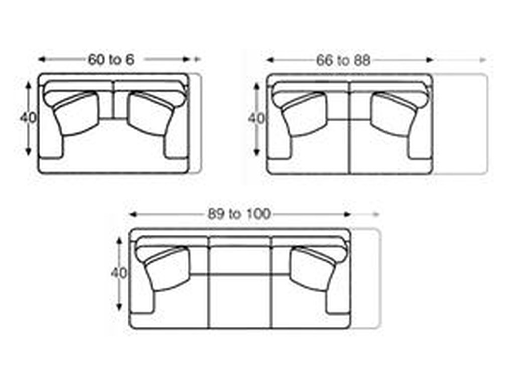 Century 2000 Eight Step Custom60 to 100 Inch Custom Sofa