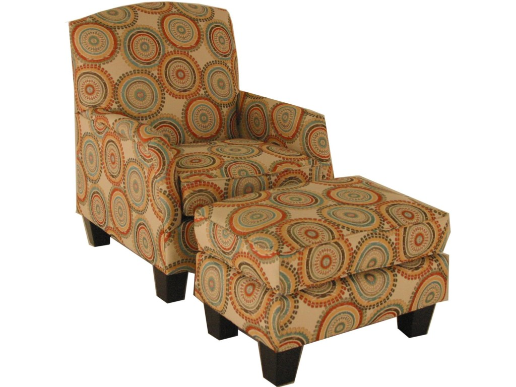 Chairs America Accent Chairs and OttomansTransitional Chair and Ottoman Set