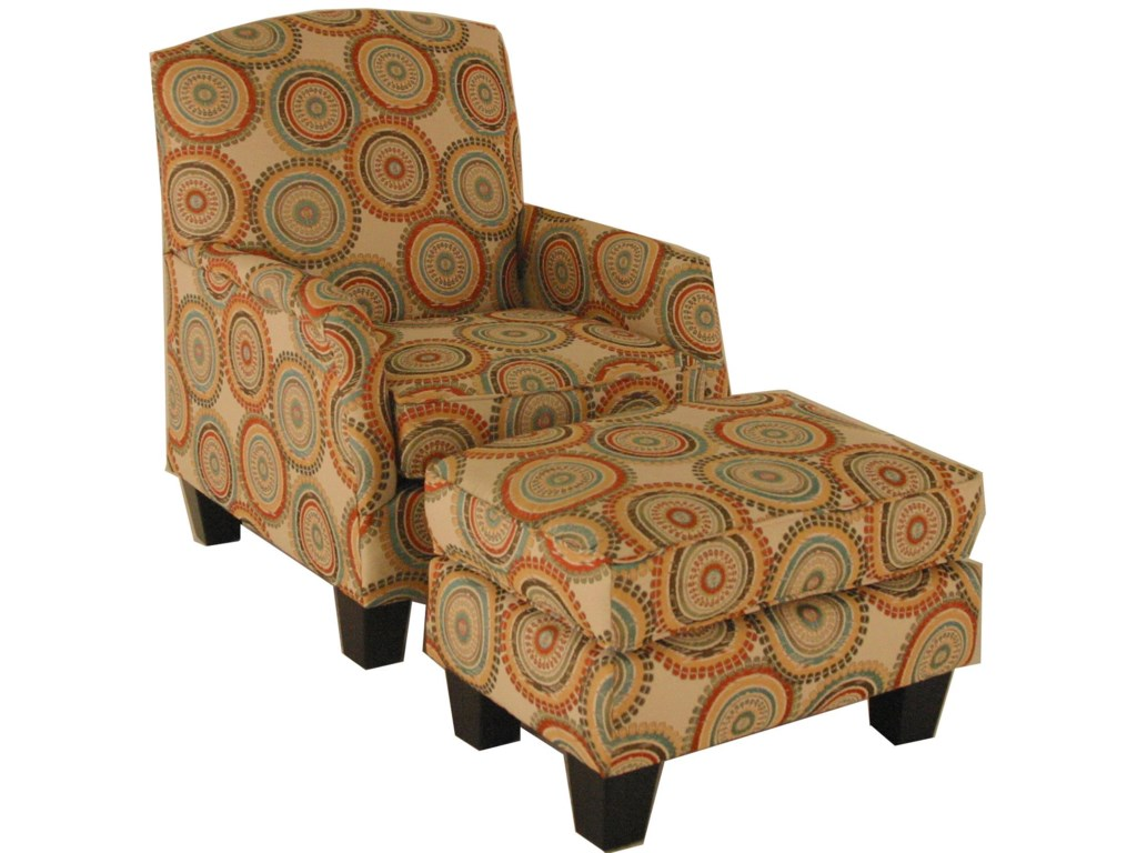 America Accent Chairs.Accent Chairs And Ottomans Transitional Ottoman With Block Feet By Chairs America At Miskelly Furniture