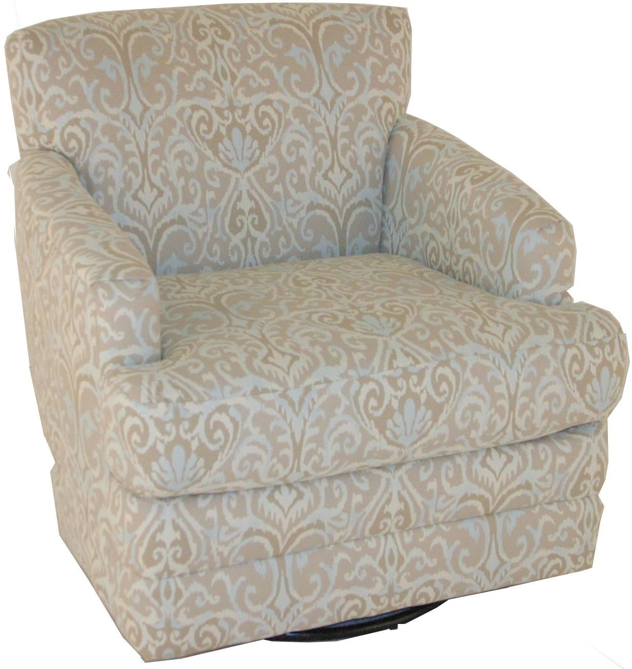 Chairs America Accent Chairs and OttomansTransitional Swivel Rocker  sc 1 st  John V Schultz & Chairs America Accent Chairs and Ottomans 1424SW Transitional Swivel ...