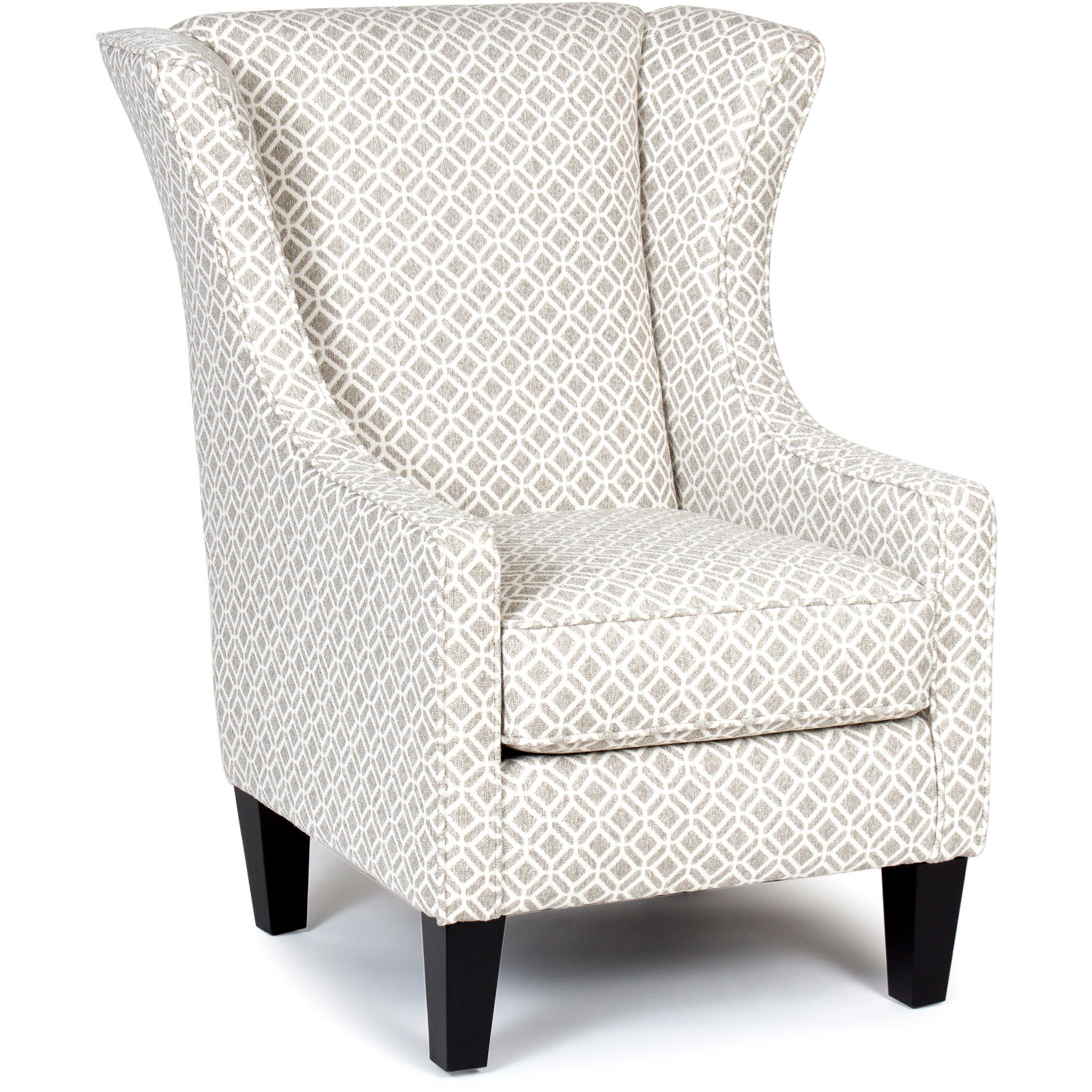 Delicieux Chairs America Accent Chairs And Ottomans Wing Chair With Tapered Legs