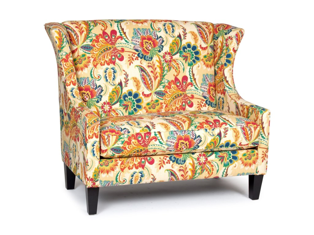 America Accent Chairs.Accent Chairs And Ottomans Traditional Wing Back Settee By Chairs America At Royal Furniture