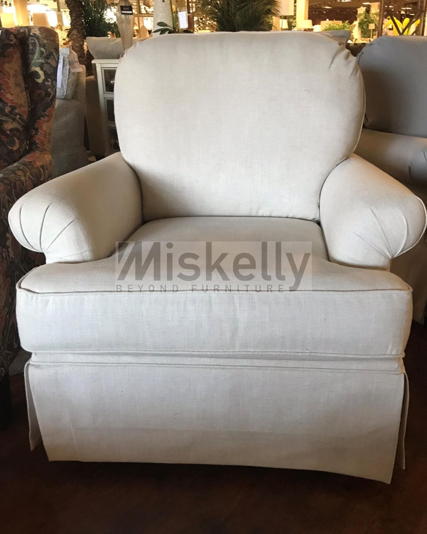 Chairs America Accent Chairs And Ottomans Swivel Glider With Skirted Base